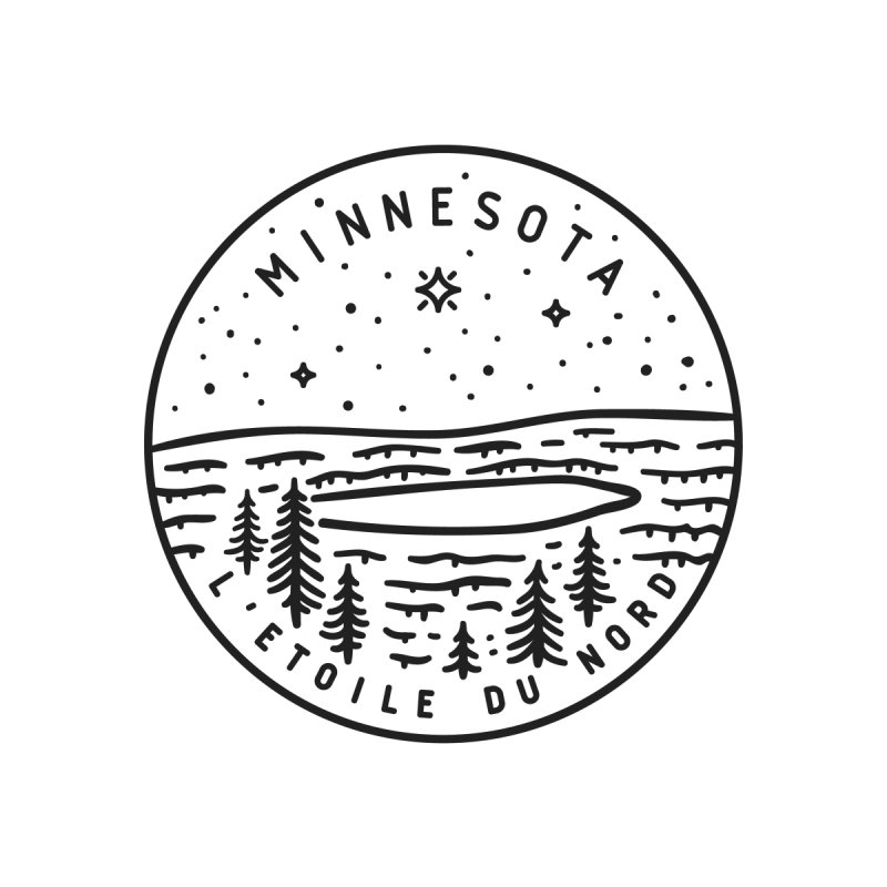 Minnesota - The North Star by Your Lake Apparel & Accessories