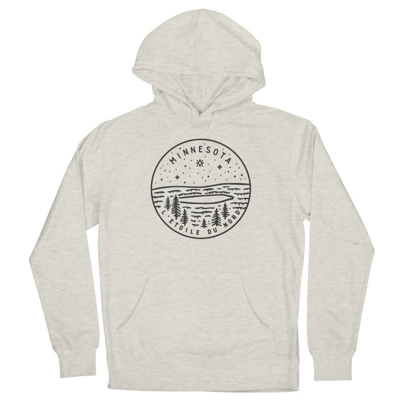 Minnesota - The North Star Women's French Terry Pullover Hoody by Your Lake Apparel & Accessories