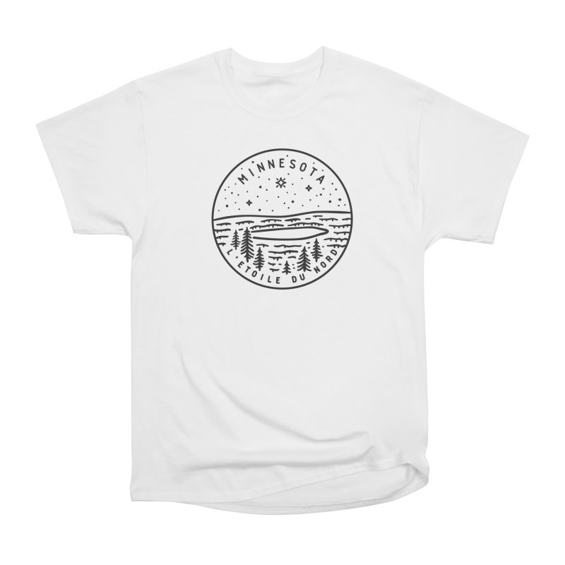 Minnesota - The North Star Women's Heavyweight Unisex T-Shirt by Your Lake Apparel & Accessories