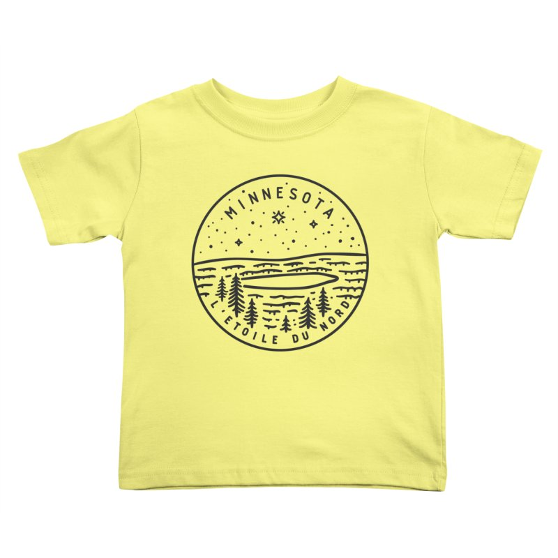 Minnesota - The North Star Kids Toddler T-Shirt by Your Lake Apparel & Accessories