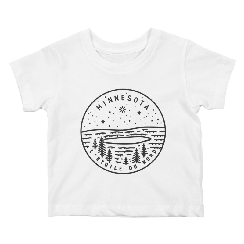 Minnesota - The North Star Kids Baby T-Shirt by Your Lake Apparel & Accessories