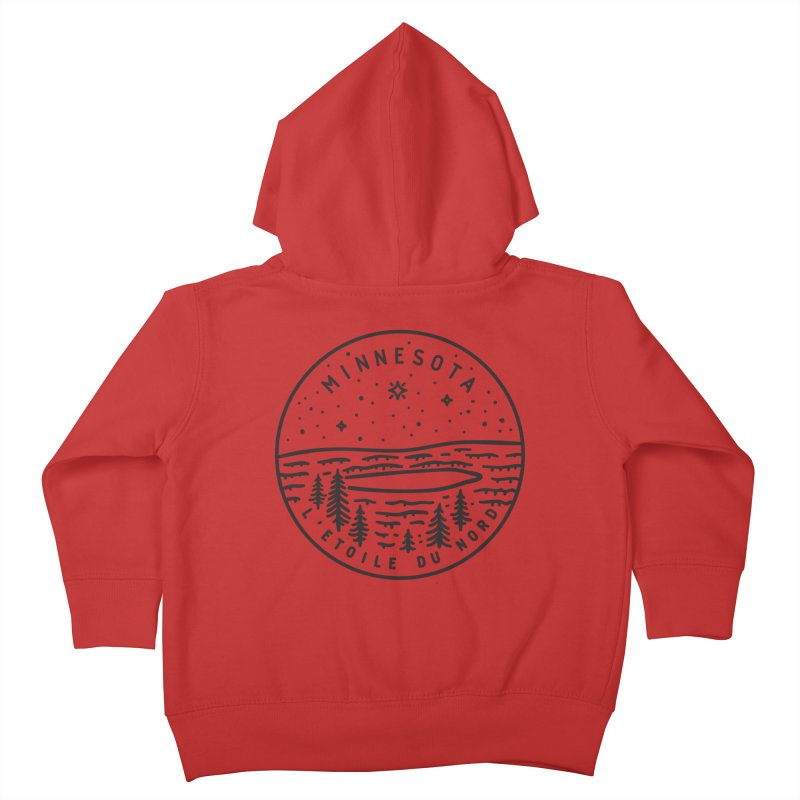 Minnesota - The North Star Kids Toddler Zip-Up Hoody by Your Lake Apparel & Accessories