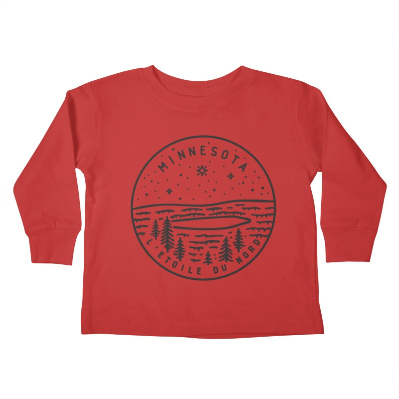 Minnesota - The North Star Kids Toddler Longsleeve T-Shirt by Your Lake Apparel & Accessories