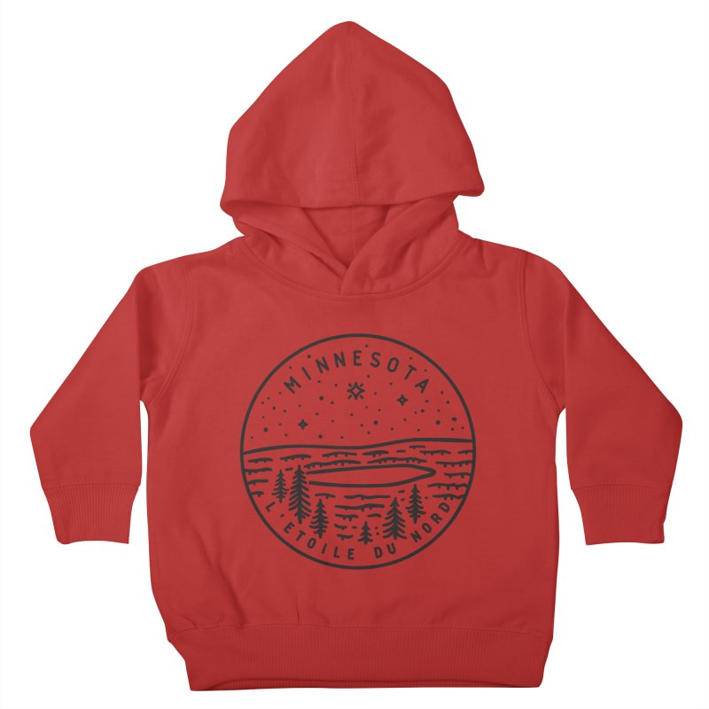 Minnesota - The North Star Kids Toddler Pullover Hoody by Your Lake Apparel & Accessories
