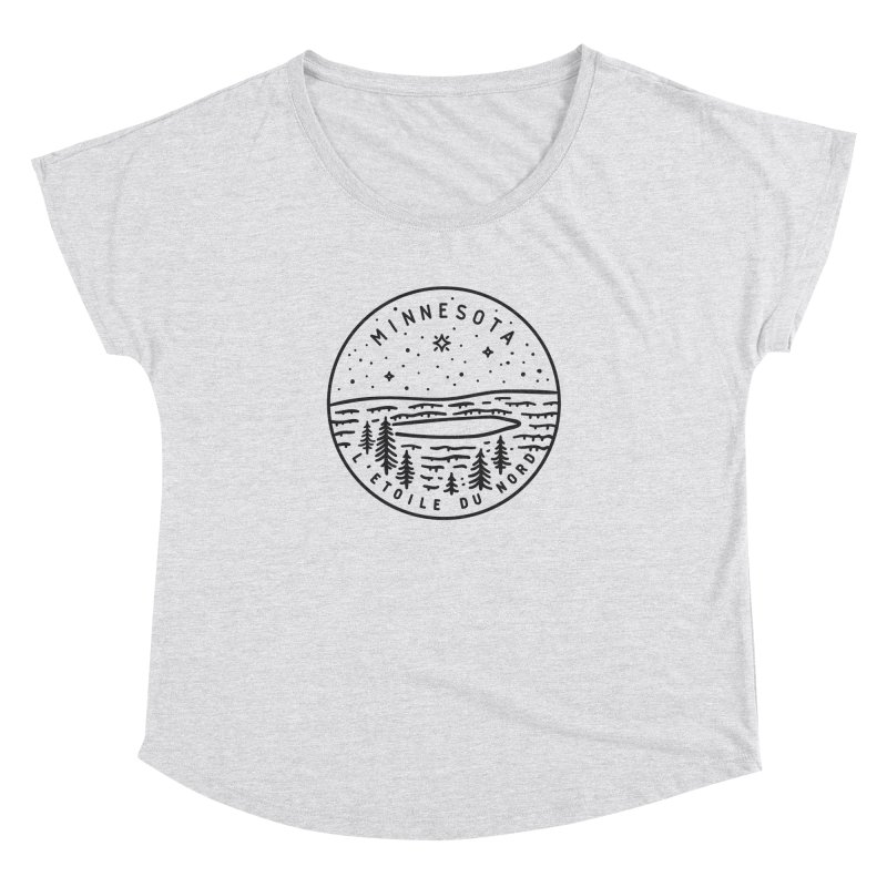 Minnesota - The North Star Women's Dolman Scoop Neck by Your Lake Apparel & Accessories
