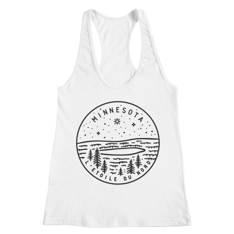 Minnesota - The North Star Women's Racerback Tank by Your Lake Apparel & Accessories