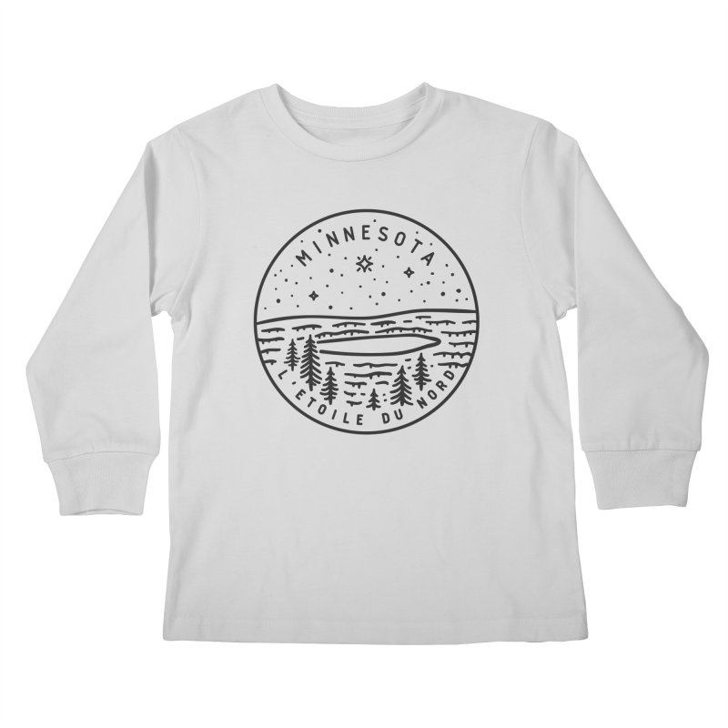 Minnesota - The North Star Kids Longsleeve T-Shirt by Your Lake Apparel & Accessories