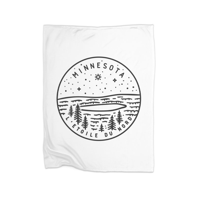 Minnesota - The North Star Home Fleece Blanket Blanket by Your Lake Apparel & Accessories