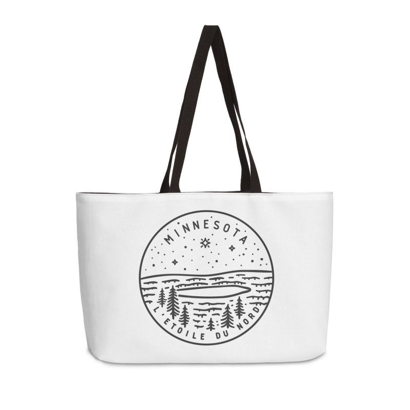 Minnesota - The North Star Accessories Weekender Bag Bag by Your Lake Apparel & Accessories