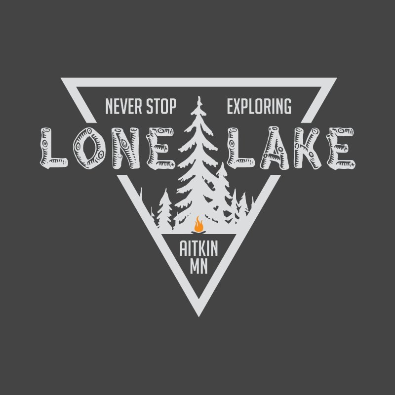 Lone Lake, MN | Lighter Print Home Fine Art Print by Your Lake Apparel & Accessories