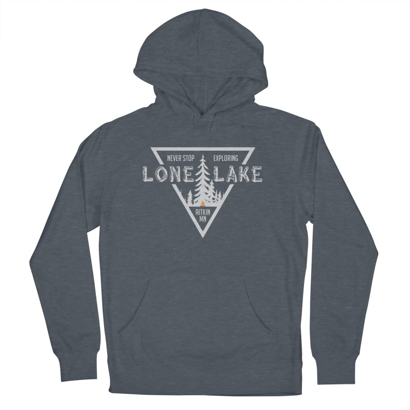 Lone Lake, MN | Lighter Print Women's French Terry Pullover Hoody by Your Lake Apparel & Accessories