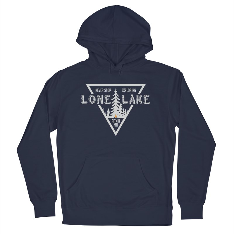 Lone Lake, MN | Lighter Print Men's French Terry Pullover Hoody by Your Lake Apparel & Accessories