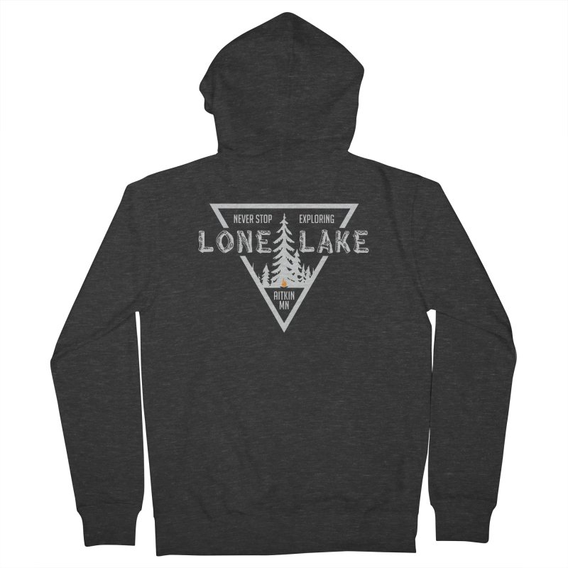 Lone Lake, MN | Lighter Print Women's French Terry Zip-Up Hoody by Your Lake Apparel & Accessories