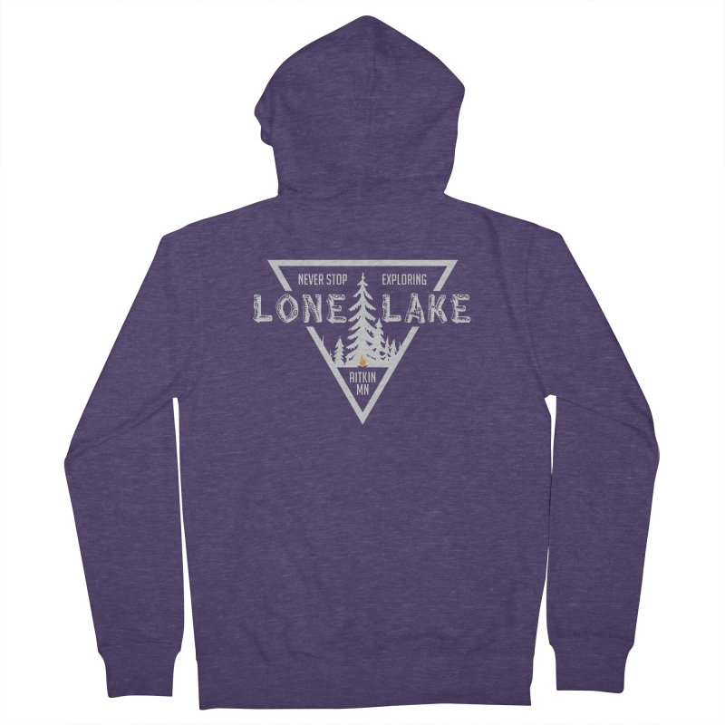 Lone Lake, MN | Lighter Print Men's French Terry Zip-Up Hoody by Your Lake Apparel & Accessories