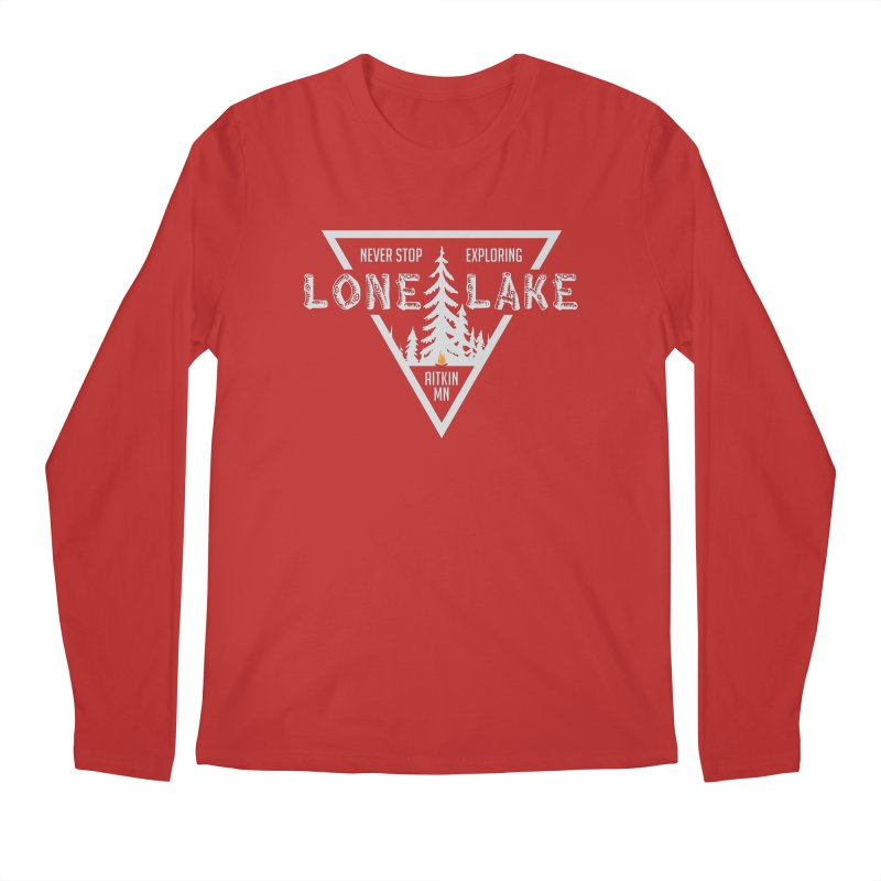 Lone Lake, MN | Lighter Print Men's Regular Longsleeve T-Shirt by Your Lake Apparel & Accessories