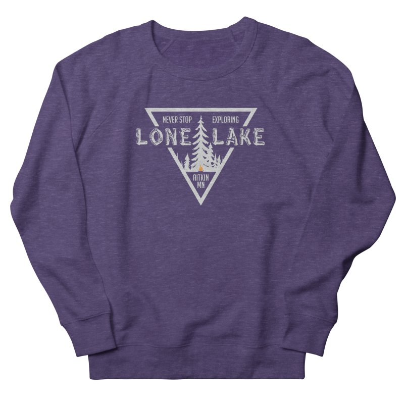 Lone Lake, MN | Lighter Print Men's French Terry Sweatshirt by Your Lake Apparel & Accessories