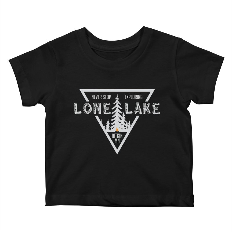 Lone Lake, MN   Lighter Print Kids Baby T-Shirt by Your Lake Apparel & Accessories