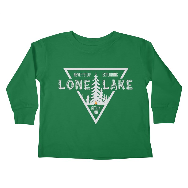 Lone Lake, MN | Lighter Print Kids Toddler Longsleeve T-Shirt by Your Lake Apparel & Accessories