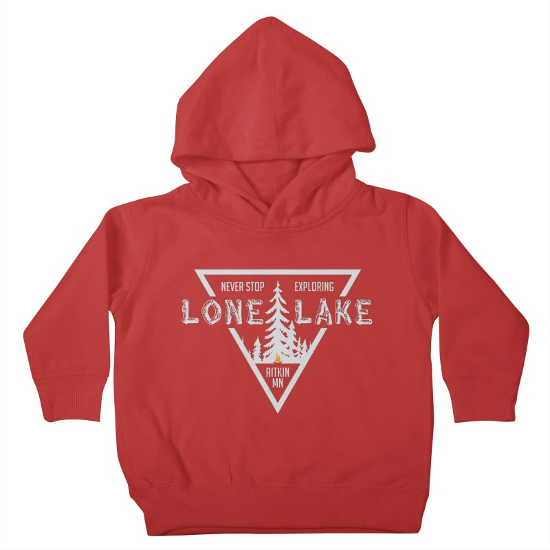 Lone Lake, MN | Lighter Print Kids Toddler Pullover Hoody by Your Lake Apparel & Accessories