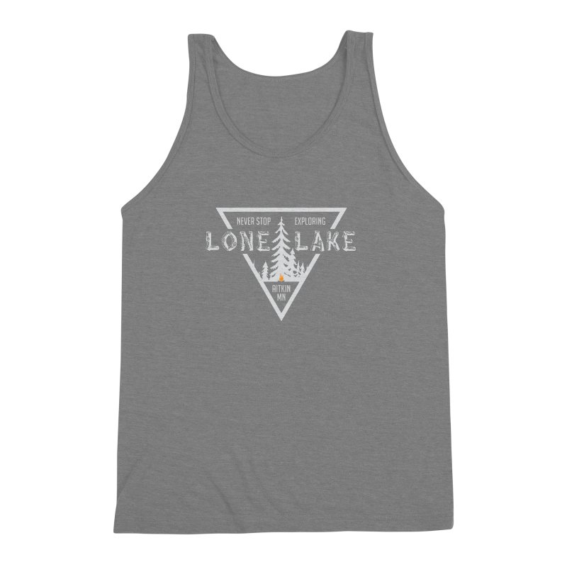 Lone Lake, MN | Lighter Print Men's Triblend Tank by Your Lake Apparel & Accessories