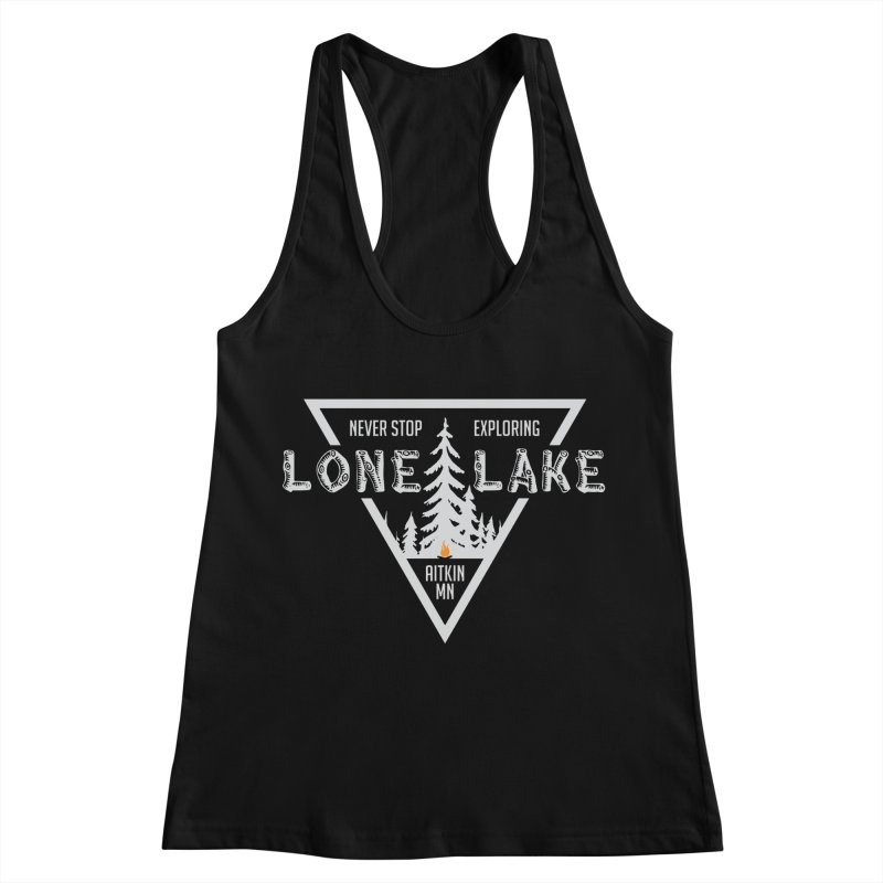 Lone Lake, MN | Lighter Print Women's Racerback Tank by Your Lake Apparel & Accessories