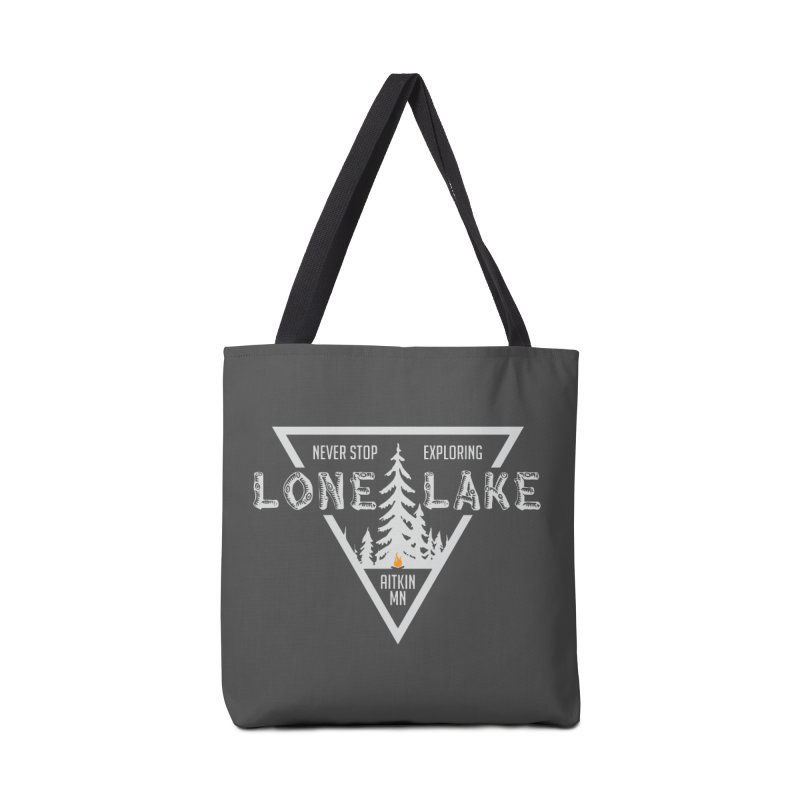 Lone Lake, MN | Lighter Print Accessories Tote Bag Bag by Your Lake Apparel & Accessories