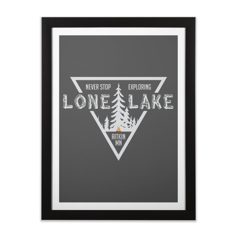Lone Lake, MN | Lighter Print Home Framed Fine Art Print by Your Lake Apparel & Accessories