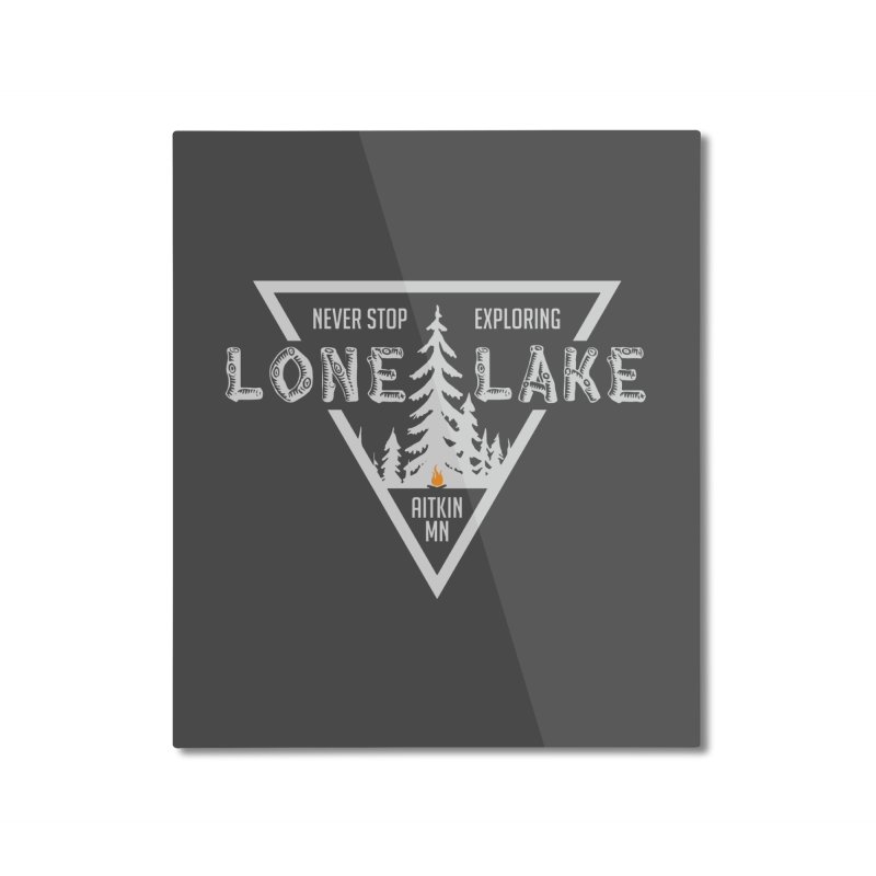 Lone Lake, MN | Lighter Print Home Mounted Aluminum Print by Your Lake Apparel & Accessories