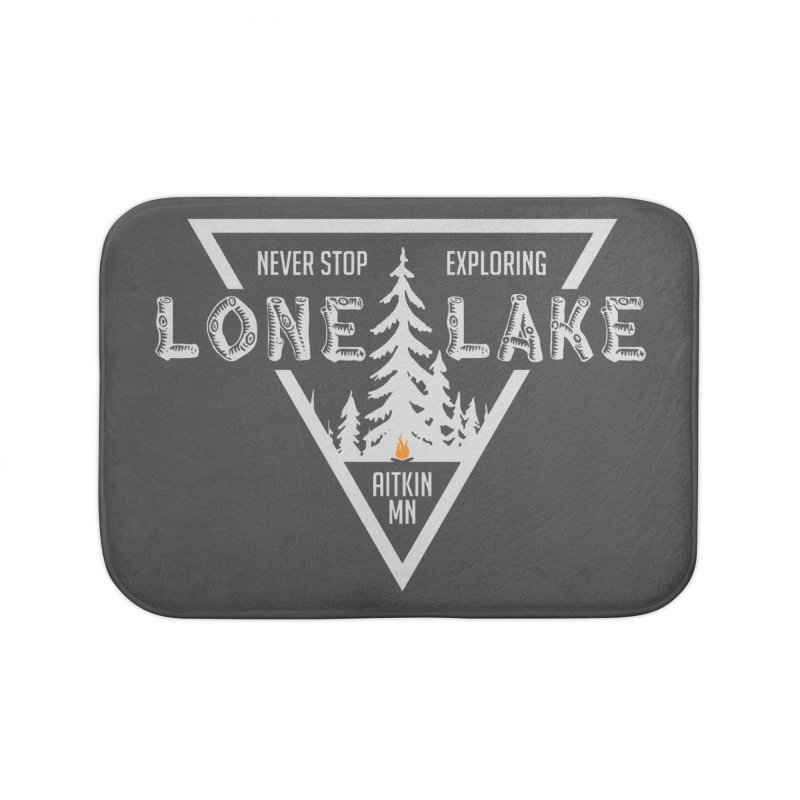 Lone Lake, MN | Lighter Print Home Bath Mat by Your Lake Apparel & Accessories