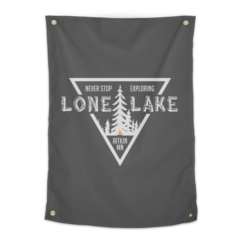 Lone Lake, MN | Lighter Print Home Tapestry by Your Lake Apparel & Accessories