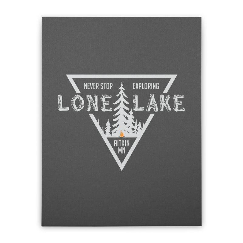 Lone Lake, MN | Lighter Print Home Stretched Canvas by Your Lake Apparel & Accessories