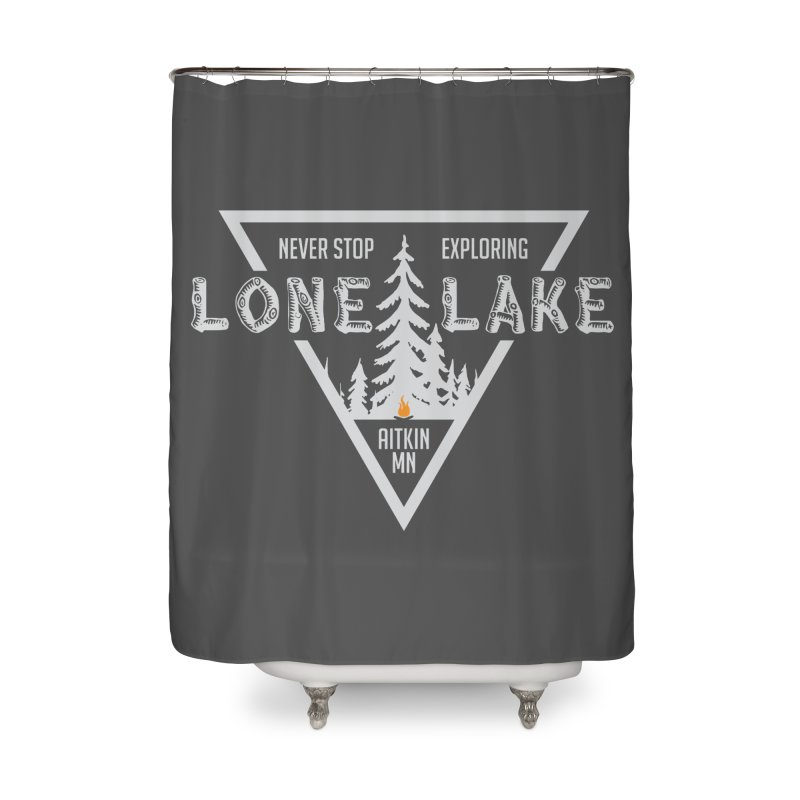 Lone Lake, MN | Lighter Print Home Shower Curtain by Your Lake Apparel & Accessories