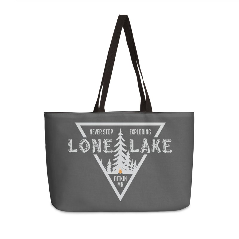 Lone Lake, MN | Lighter Print Accessories Weekender Bag Bag by Your Lake Apparel & Accessories
