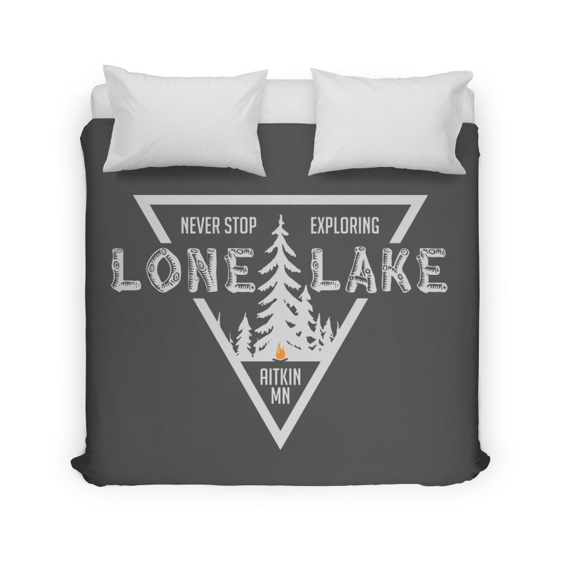 Lone Lake, MN | Lighter Print Home Duvet by Your Lake Apparel & Accessories