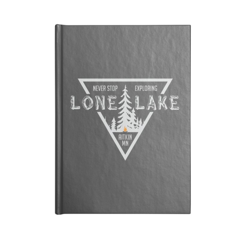 Lone Lake, MN | Lighter Print Accessories Blank Journal Notebook by Your Lake Apparel & Accessories