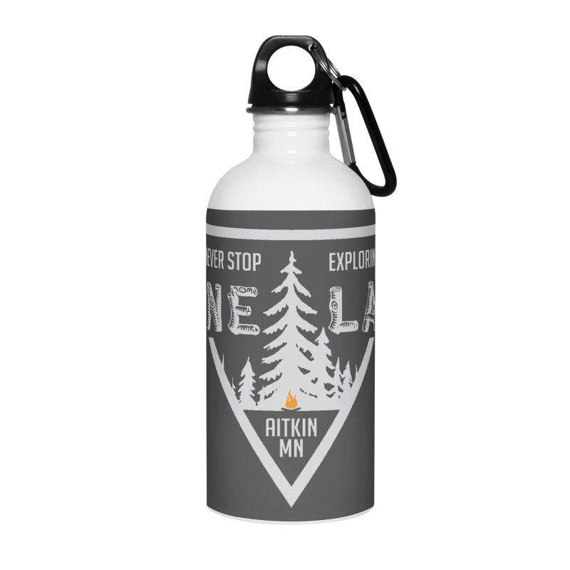 Lone Lake, MN | Lighter Print Accessories Water Bottle by Your Lake Apparel & Accessories