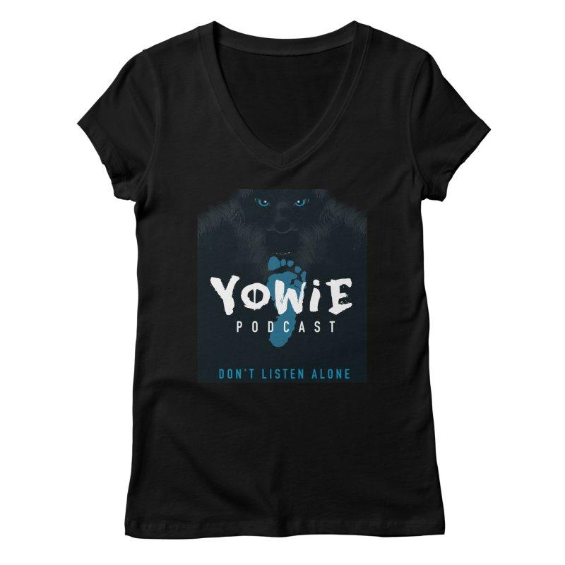 Yowie Podcast Apparel V3 Women's V-Neck by Yowie Podcast Shop