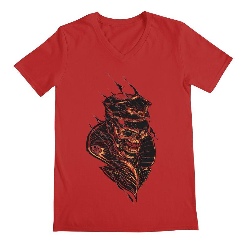 Red Skull Men's V-Neck by Yucaballero Shop