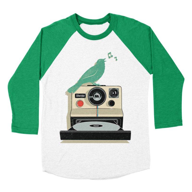 Stereo Memories Women's Baseball Triblend T-Shirt by yurilobo's Artist Shop