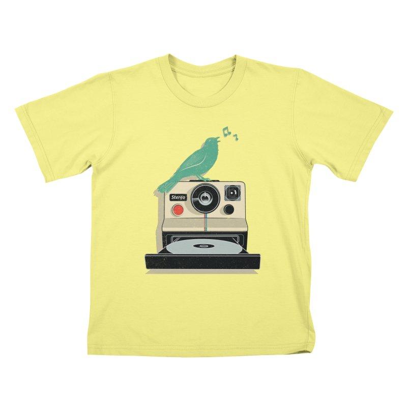 Stereo Memories Kids T-shirt by yurilobo's Artist Shop