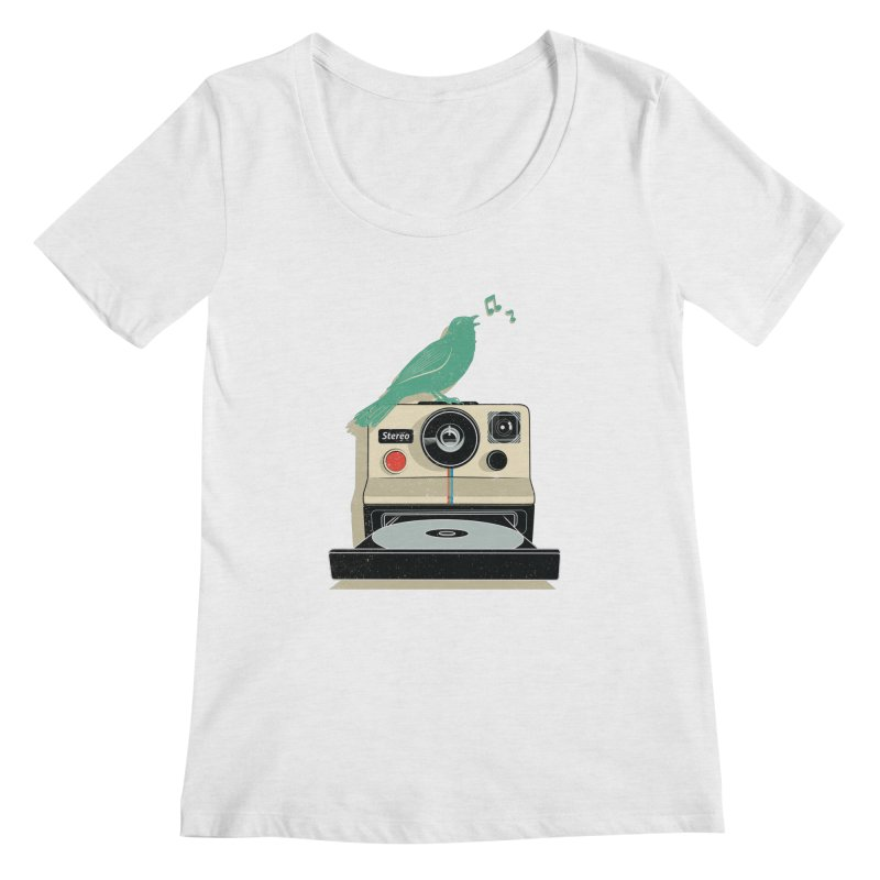 Stereo Memories Women's Scoopneck by yurilobo's Artist Shop