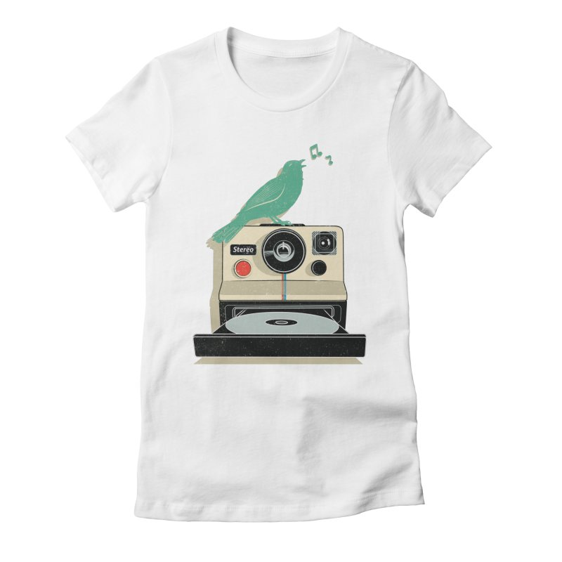 Stereo Memories Women's Fitted T-Shirt by yurilobo's Artist Shop