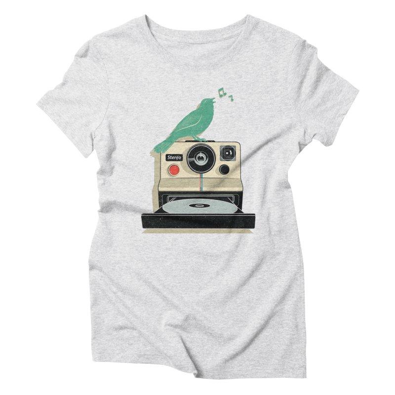 Stereo Memories Women's Triblend T-shirt by yurilobo's Artist Shop