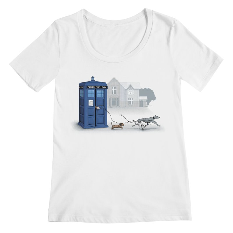 Who Let the Dogs Out Women's Scoopneck by yurilobo's Artist Shop