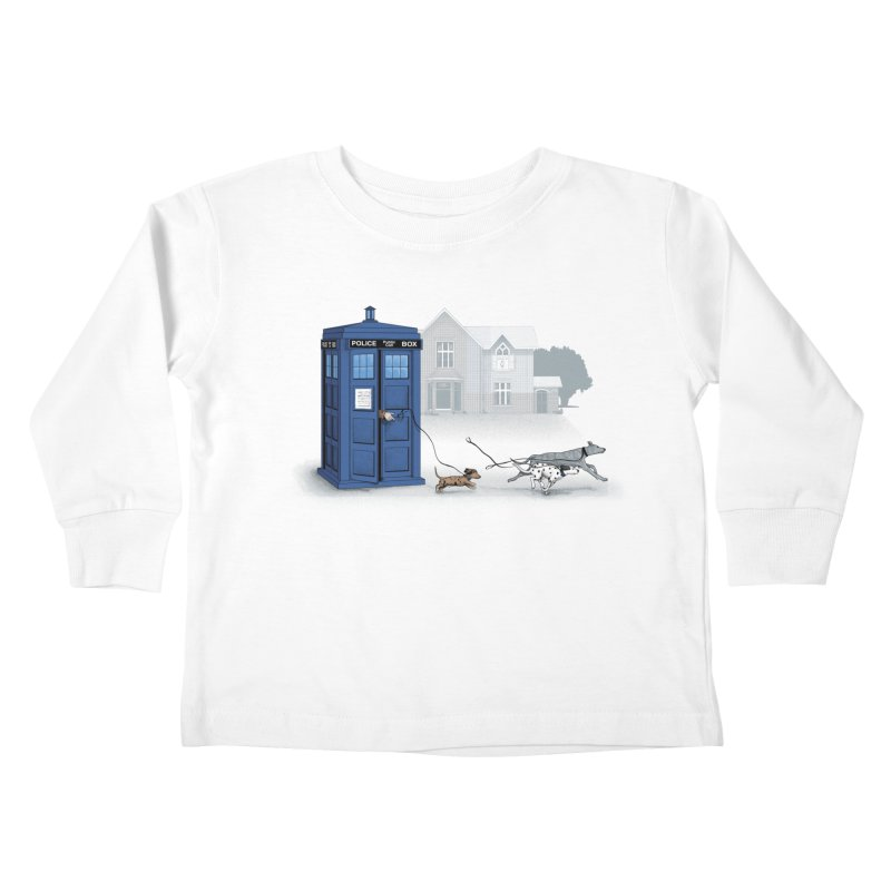 Who Let the Dogs Out Kids Toddler Longsleeve T-Shirt by yurilobo's Artist Shop
