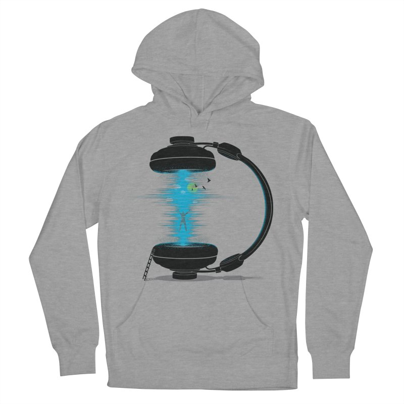 Music is a Portal Men's Pullover Hoody by yurilobo's Artist Shop