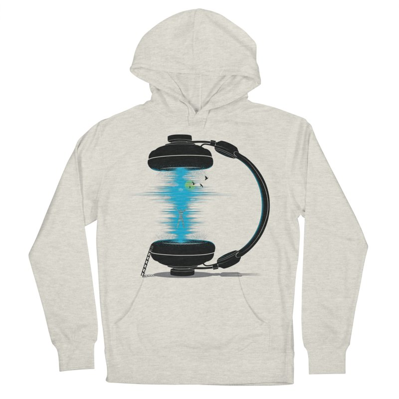 Music is a Portal Men's French Terry Pullover Hoody by yurilobo's Artist Shop