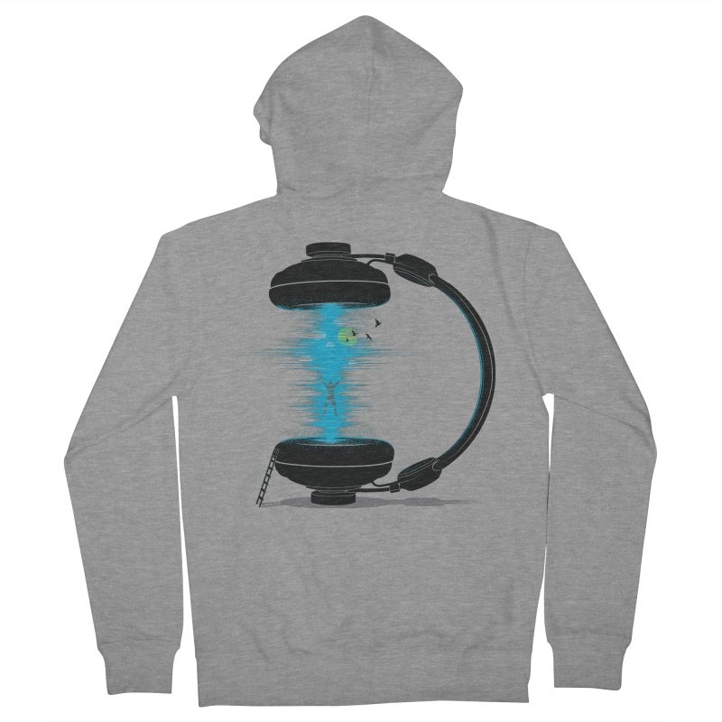 Music is a Portal Men's French Terry Zip-Up Hoody by yurilobo's Artist Shop