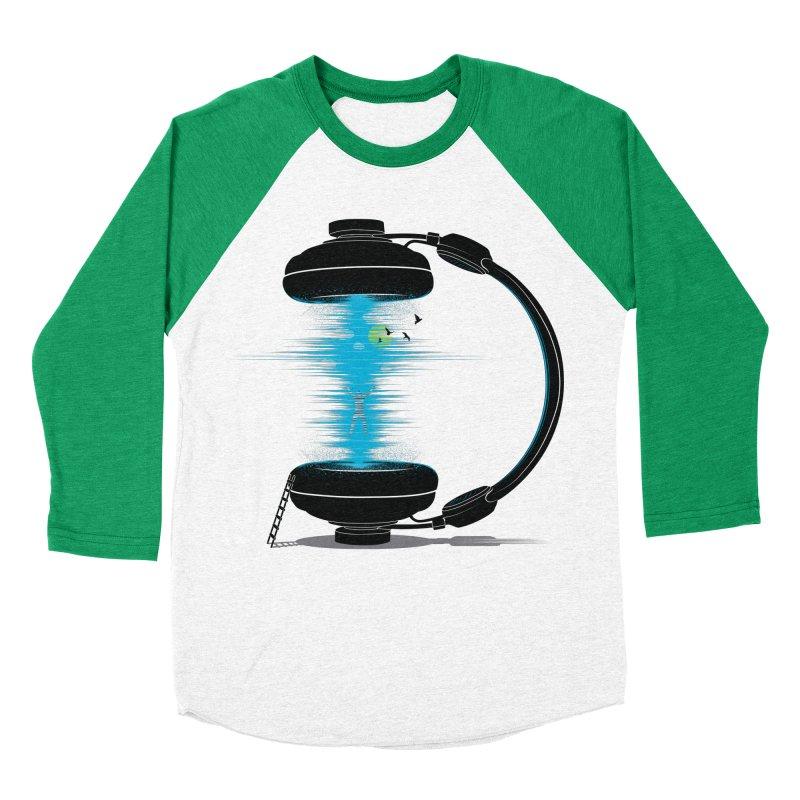 Music is a Portal Men's Baseball Triblend T-Shirt by yurilobo's Artist Shop
