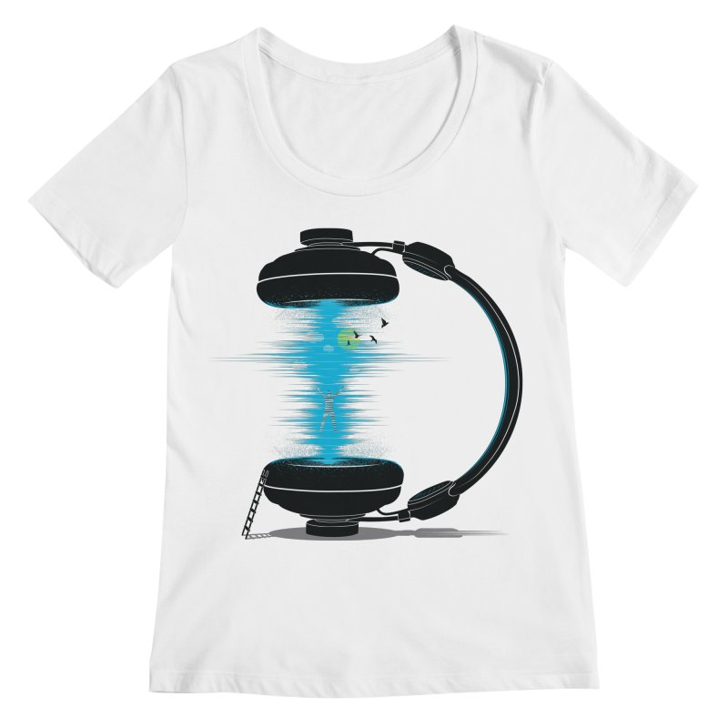 Music is a Portal Women's Scoopneck by yurilobo's Artist Shop